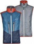 Ortovox Swisswool Light Vest Piz Cartas Grau, Male Daunen Isolationsweste, S