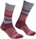Ortovox W All Mountain Mid Socks Gestreift / Rot   Größe 35 - 38   Damen Socke