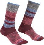 Ortovox W All Mountain Mid Warm Socks Gestreift / Rot   Größe 35 - 38   Damen