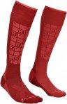 Ortovox Merino Socks Ski Compression Rot, Female Merino Ski-& Snowboardocken, 39
