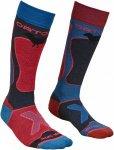Ortovox Merino Socks Ski Rock'n'wool Rot, Female Merino Ski-& Snowboardocken, 39