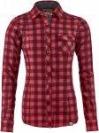 Ortovox Womens Merino Wild Skin Courmayeur Shirt Rot, M, Damen Langarm-Hemd ▶