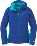 Outdoor Research Cathode Hooded Jacket Blau, Female PrimaLoft® Isolationsjacke,