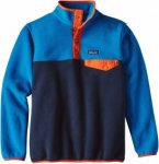 Patagonia Boys Lightweight Synchilla Snap-T Pullover Colorblock, Male Freizeitpu