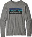 Patagonia Boys Long-Sleeved Graphic Organic T-Shirt Grau | Herren Freizeitpullov