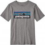Patagonia Boys P-6 Logo Organic T-Shirt Grau   Größe XL   Jungen Kurzarm-Shirt
