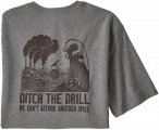 Patagonia M Ditch THE Drill Responsibili-Tee Grau | Größe XL | Herren T-Shirt