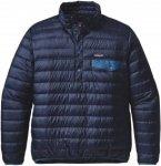 Patagonia Down Snap-T Pullover Blau, Male Daunen Freizeitpullover, L