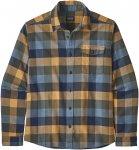 Patagonia M Lightweight Fjord Flannel Shirt Kariert / Blau / Grün | Größe XL