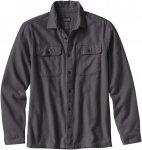 Patagonia M Long-Sleeved Fjord Flannel Shirt Grau | Herren Langarm-Shirt