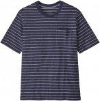 Patagonia M Organic Cotton Midweight Pocket Tee Blau   Herren T-Shirt