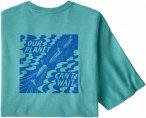 Patagonia M OUR Planet Cant Wait Responsibili-Tee Blau   Herren T-Shirt