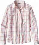 Patagonia W Long-Sleeved Overcast Shirt Kariert / Weiß | Größe 6 | Damen Hemd