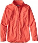 Patagonia Long-Sleeved SOL Patrol Shirt Pink, Female Langarm-Hemd, L