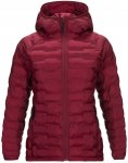 Peak Performance W Argon Light Hood Jacket Rot | Größe XS | Damen Isolationsja