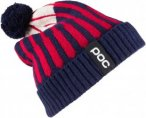 POC Jaquard Knit Beanie Blau-Rot, One Size,Mütze ▶ %SALE 40%