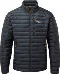 Rab M Microlight Jacket Schwarz   Herren Isolationsjacke