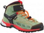 Salewa Junior Alp Player Mid Gtx® Grün, Gore-Tex® Hiking-& Approach-Schuh, 32