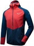 Salewa Agner Cordura 2 Polarlite Full-Zip Hoody, Bergrot Colorblock, XL