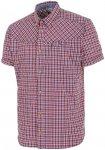 Salewa M Fanes Check Dry Shortsleeve Shirt Kariert / Rot | Herren Hemd