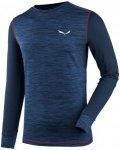 Salewa Pedroc Hybrid L/S Tee Blau, Male Polartec® Langarm-Shirt, M