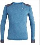 Salewa M Puez 2 Dry L/S Tee Blau | Größe XL | Herren Langarm-Shirt