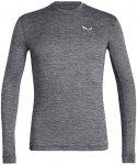 Salewa M Puez Melange Dry L/S Tee Grau | Größe XXL | Herren T-Shirt