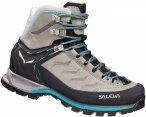 Salewa Mountain Trainer Mid Leather Grau, Female EU 38 -Farbe Pewter -Ocean, 38
