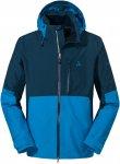 Schöffel M Jacket Padon Colorblock / Blau | Größe 56 | Herren Regenjacke