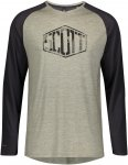 Scott M Trail Flow Raglan L/SL Shirt Colorblock / Grün | Herren T-Shirt