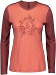 Scott W Trail Flow Merino L/SL Shirt Colorblock / Orange   Größe XL   Damen T-