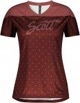 Scott W Trail Flow S/SL Shirt Colorblock / Rot | Größe XL | Damen T-Shirt