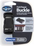 Sea to Summit Field Repair Buckle 20mm Side Release Schwarz | Größe One Size |