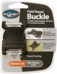 Sea to Summit Field Repair Buckle 25mm Side Release 2 PIN Schwarz, Alpin-& Trekk