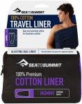 Sea to Summit Premium Cotton Travel Liner Mummy Blau | Größe 185 cm |  Schlafs