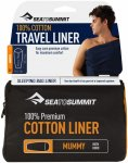 Sea to Summit Premium Cotton Travel Liner Mummy With Hood Blau | Größe 210 cm