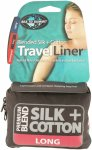Sea to Summit Silk/Cotton Travel Liner Long Blau | Größe 210 cm |  Schlafsack