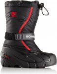 Sorel Kids Flurry Schwarz, EU 33 -Farbe Black -Bright Red, 33