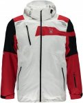 Spyder Titan Jacket (Modell Winter 2017) Rot, Male Daunen S -Farbe White -Black