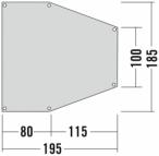 Tatonka Apsidenunterlage 3 Grau, One Size,Zeltunterlage