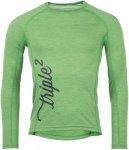 Triple2 Mens Lang Long Sleeve Shirt Grün, L, Herren Oberteil
