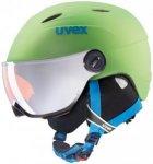 Uvex Junior Visor Pro Grün, Ski-& Snowboardhelm, 54 -56 cm
