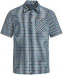 Vaude Mens Albsteig Shirt Kariert / Blau | Herren Kurzarm-Hemd