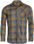 Vaude Mens Neshan Long-Sleeve Shirt III Kariert / Blau / Braun | Herren Hemd