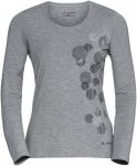 Vaude Womens Gleann Long-Sleeve Shirt, Grey Melange | Größe 40 | Damen Langarm