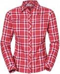 Vaude Womens Neshan Shirt III Kariert / Rot / Weiß | Größe 34 | Damen Hemd