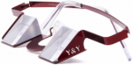Y&Y Sicherungsbrille Classic Colorful Rot, One Size,Sportbrille