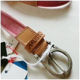 Musto - CALAROSSA BELT Segelgürtel Outdoorgürtel - Leder - pink...