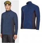 4F - Herren Fleece Langarmshirt - navy melange