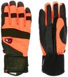 4F - Leder Skihandschuhe Thinsulate - mit Band - orange schwarz L
